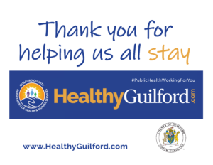 Thank You for Helping Us All Stay Healthy Guilford Flyer